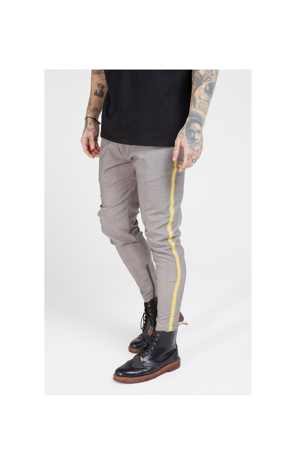 SikSilk Fitted Smart Tape Jogger Pants –Grey (2)