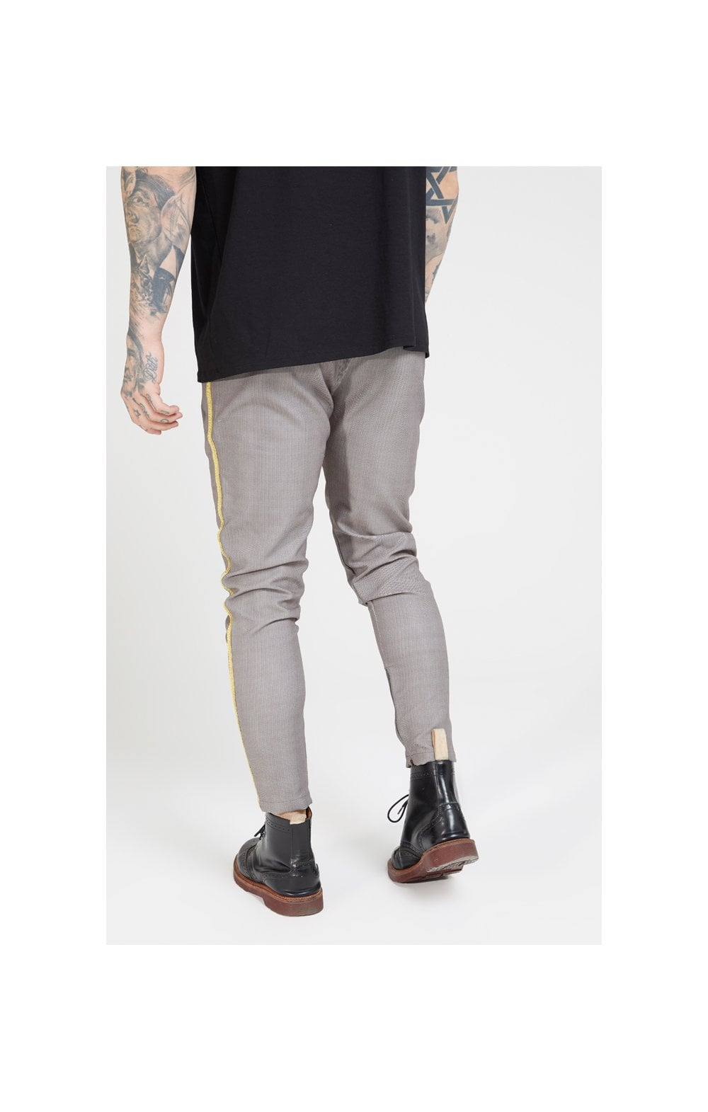SikSilk Fitted Smart Tape Jogger Pants –Grey (3)