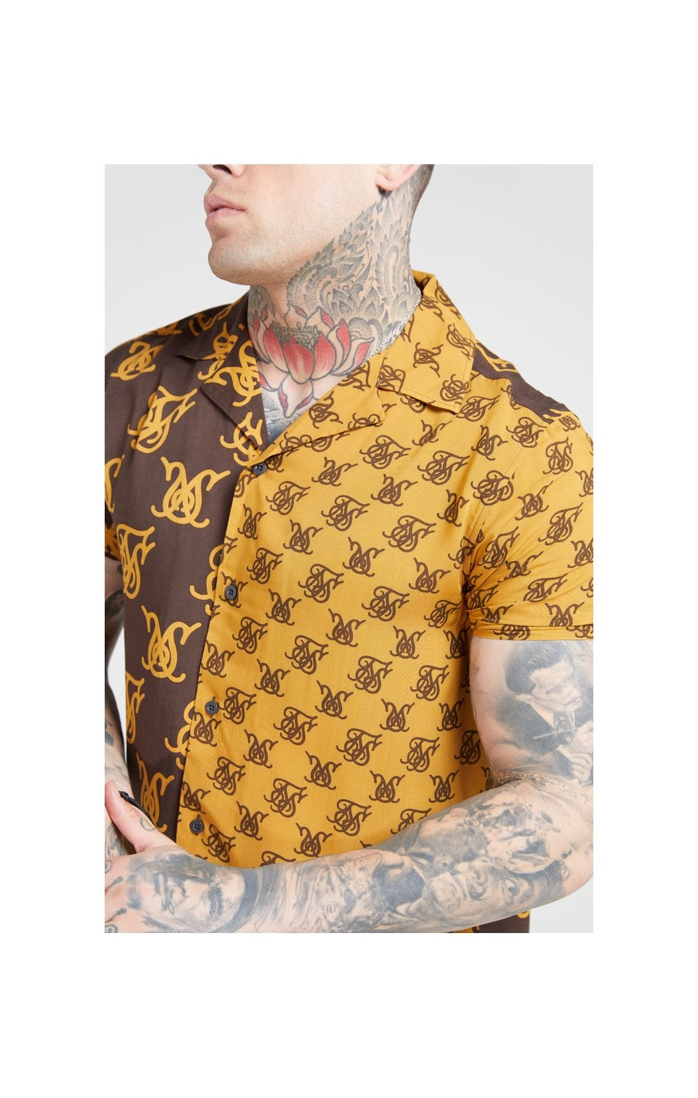 Load image into Gallery viewer, SikSilk S/S Resort Shirt – Tan & Brown
