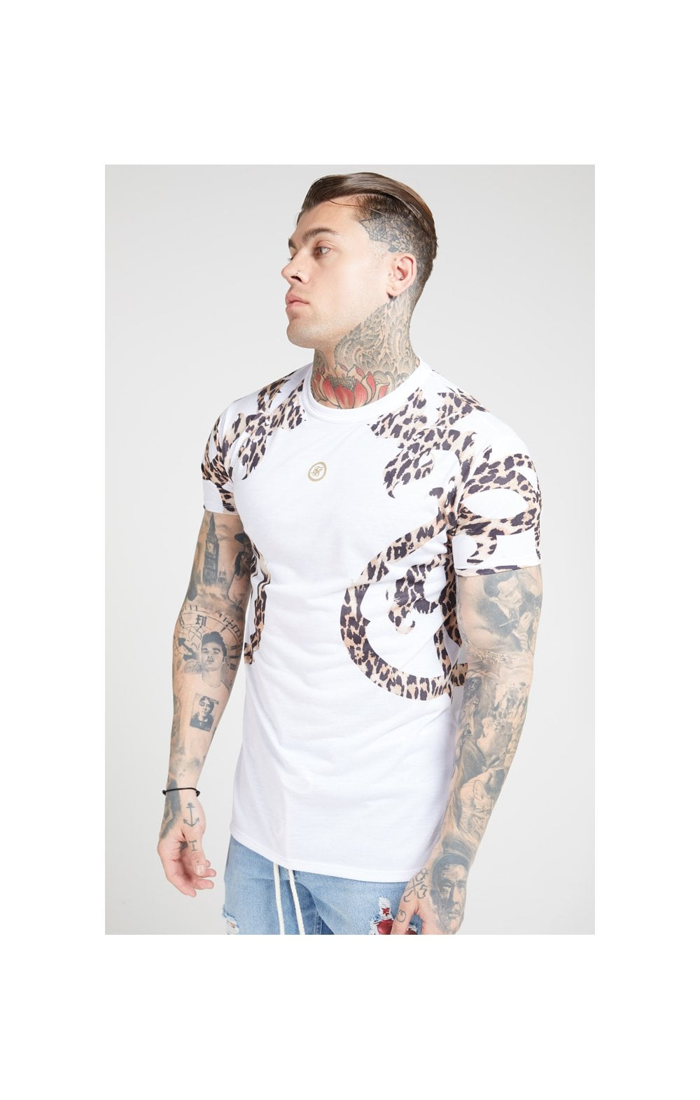 Load image into Gallery viewer, SikSilk S/S Raglan Straight Hem Tee – White (1)