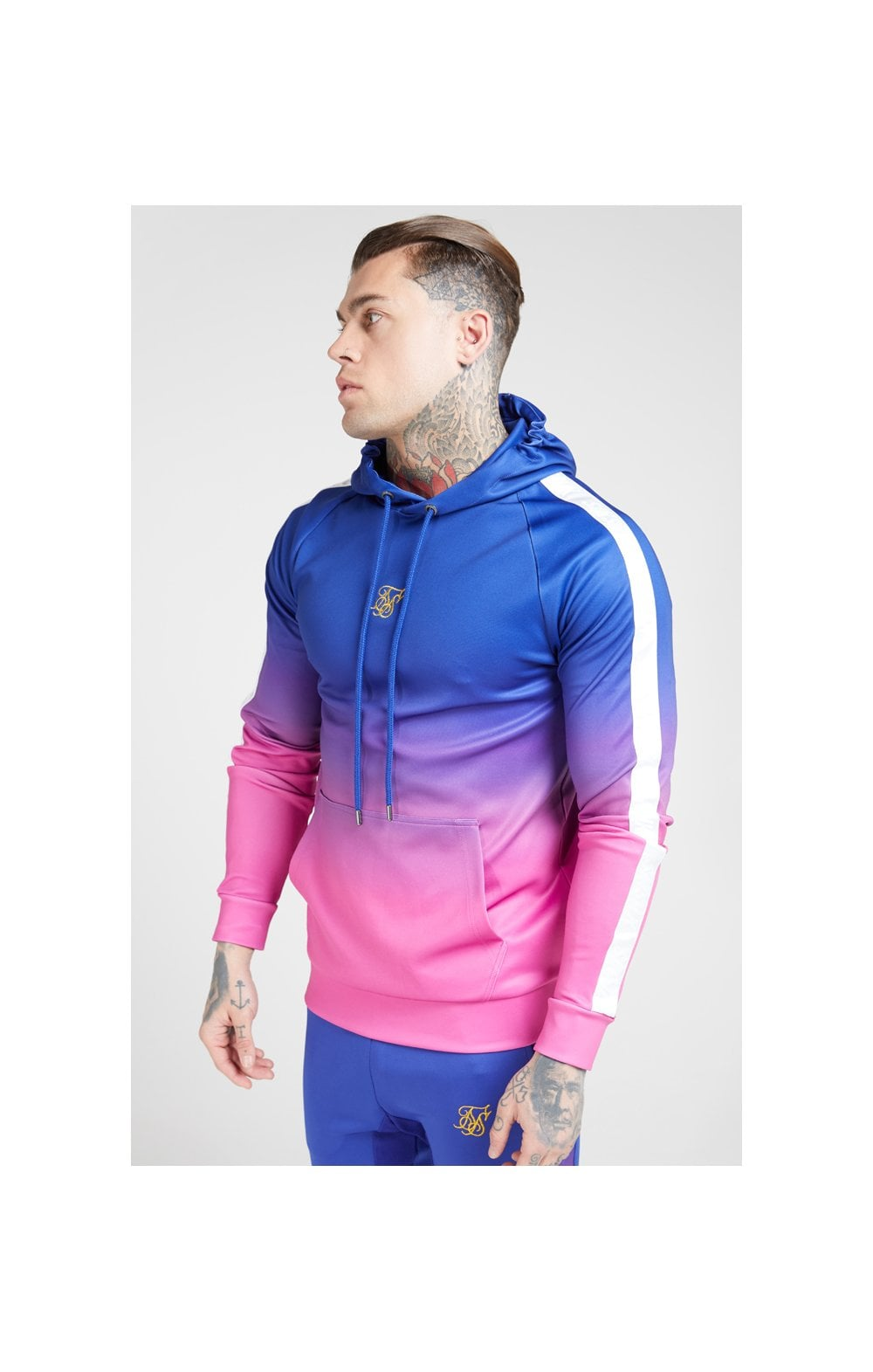 Load image into Gallery viewer, SikSilk Vapour Fade Overhead Hoodie - Neon Blue (1)
