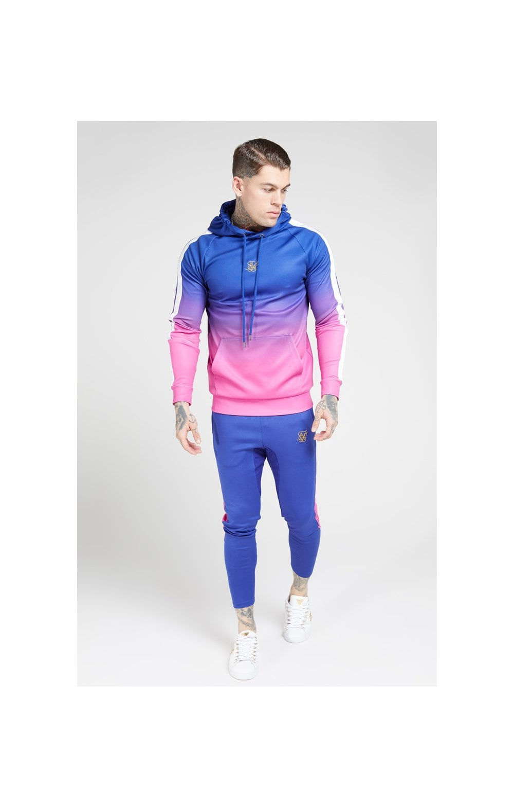 Load image into Gallery viewer, SikSilk Vapour Fade Overhead Hoodie - Neon Blue (2)