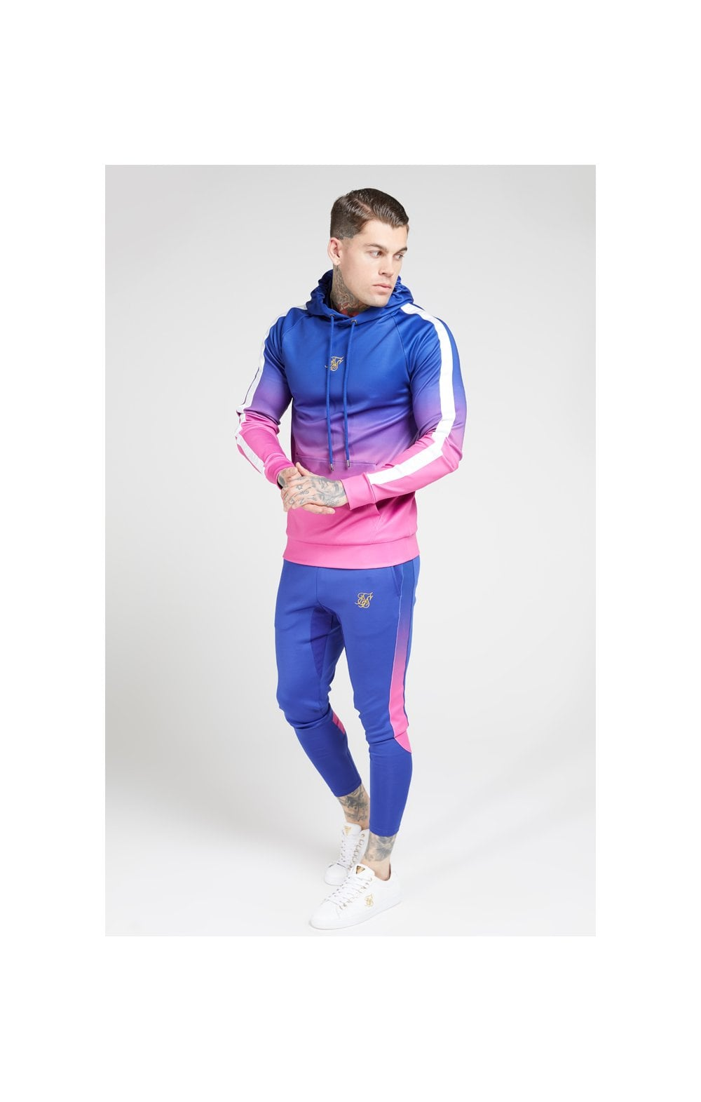 Load image into Gallery viewer, SikSilk Vapour Fade Overhead Hoodie - Neon Blue (3)