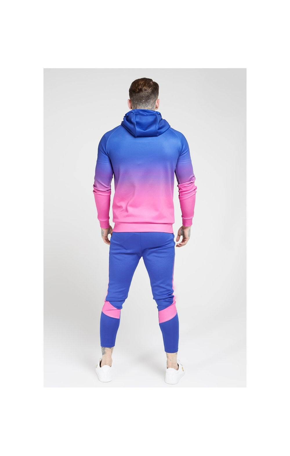 Load image into Gallery viewer, SikSilk Vapour Fade Overhead Hoodie - Neon Blue (4)
