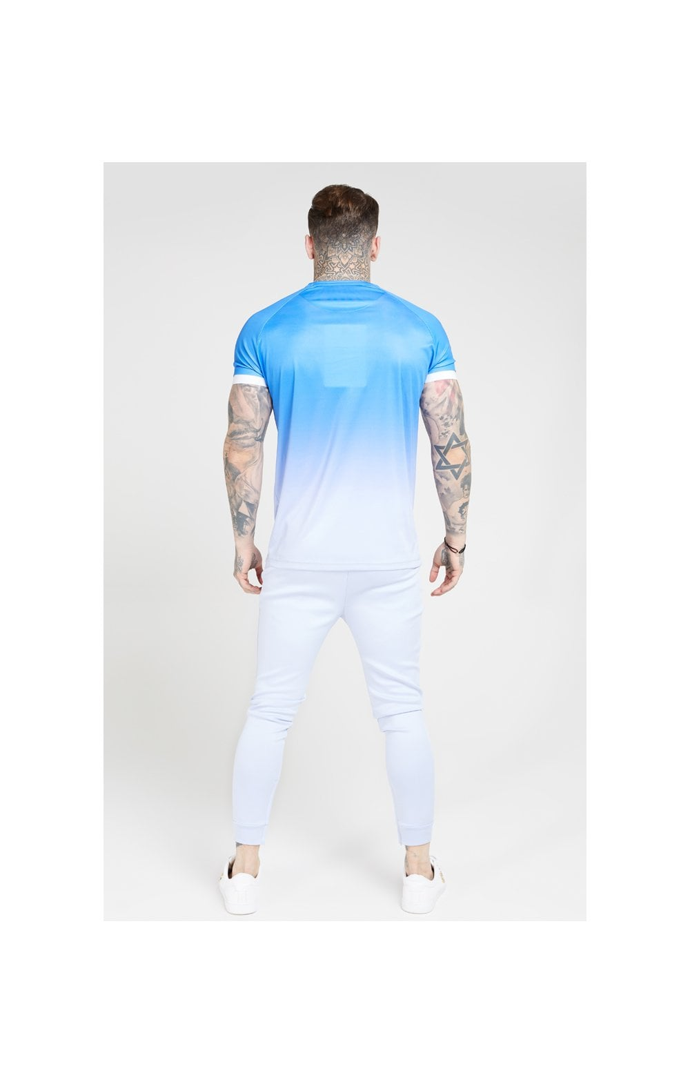 Load image into Gallery viewer, SikSilk S/S Raglan Fade Straight Hem Tee – Blue & Lilac (4)