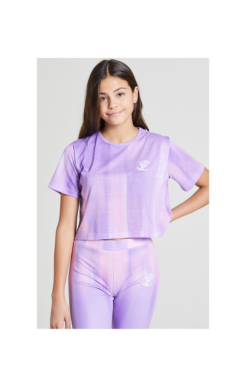Illusive London Cropped Marble Tee - Lilac & Marble (1)