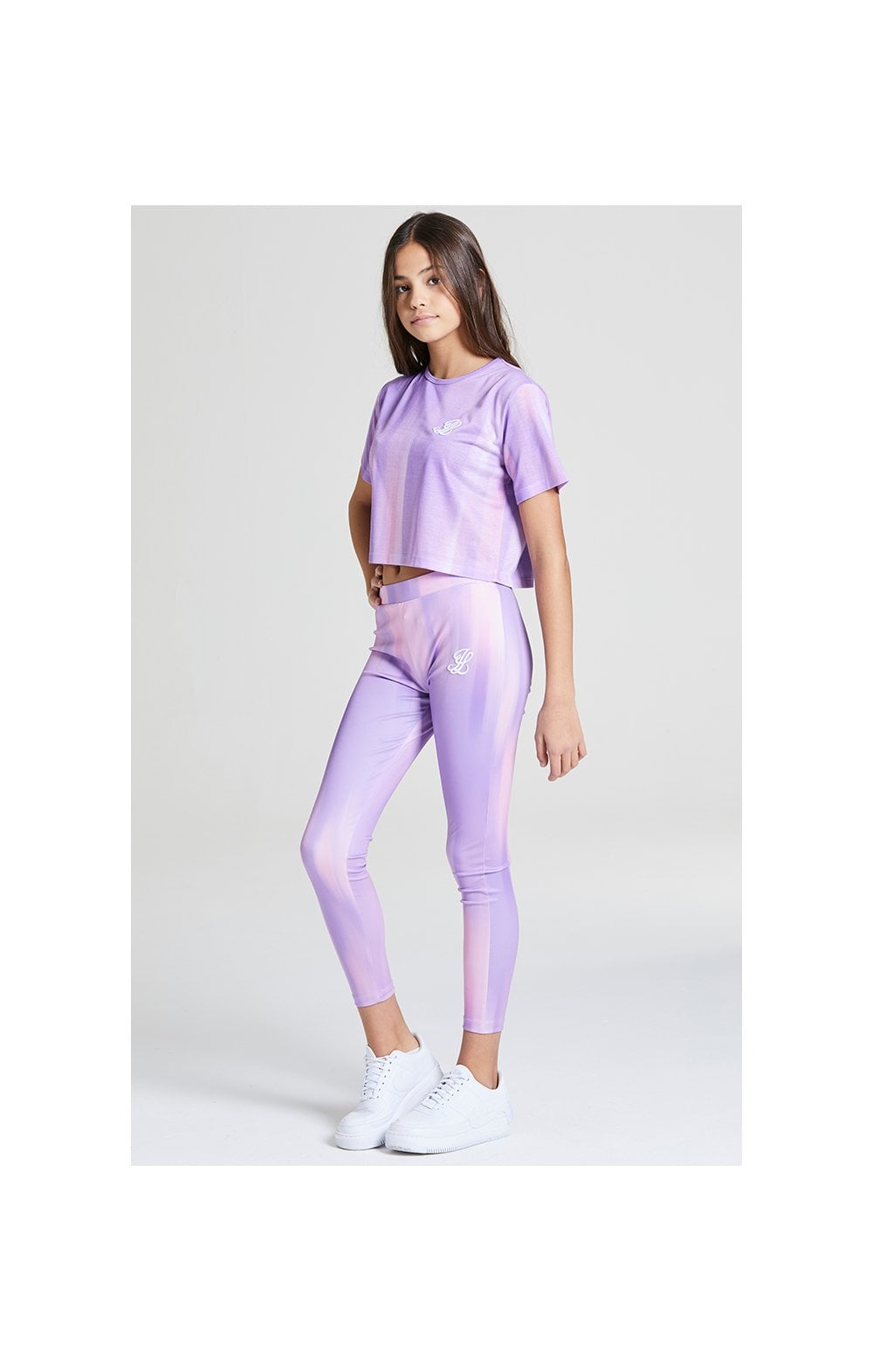 Illusive London Cropped Marble Tee - Lilac & Marble (3)