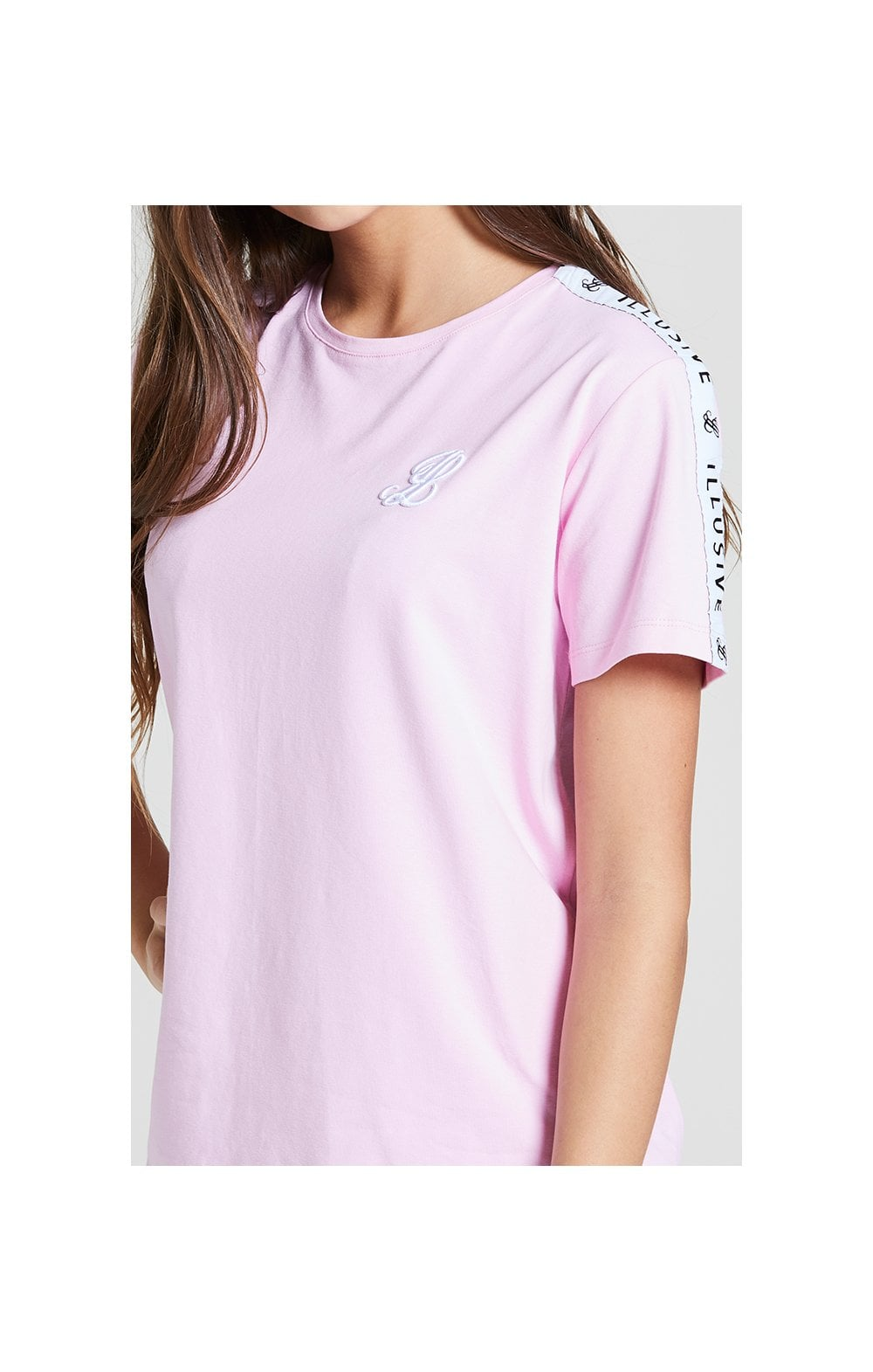 Illusive London BF Fit Taped Tee -  Pink