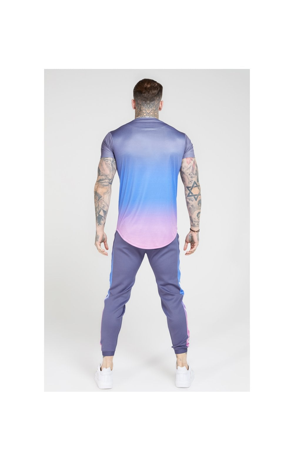 Load image into Gallery viewer, SikSilk S/S Curved Hem Fade Tee – Tri-Neon Fade (5)