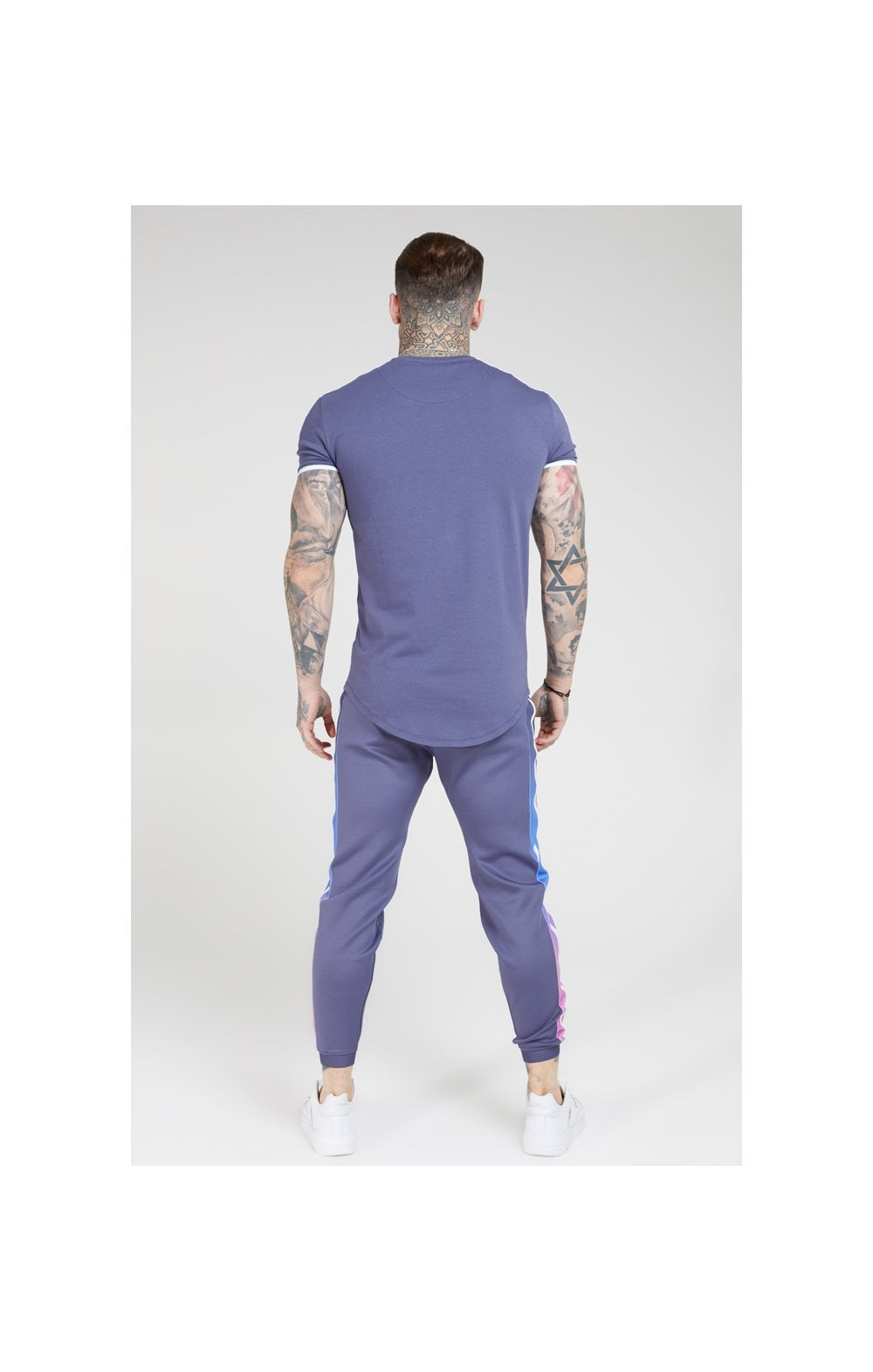 SikSilk S/S Panel Gym Tee – Ocean Slate (4)
