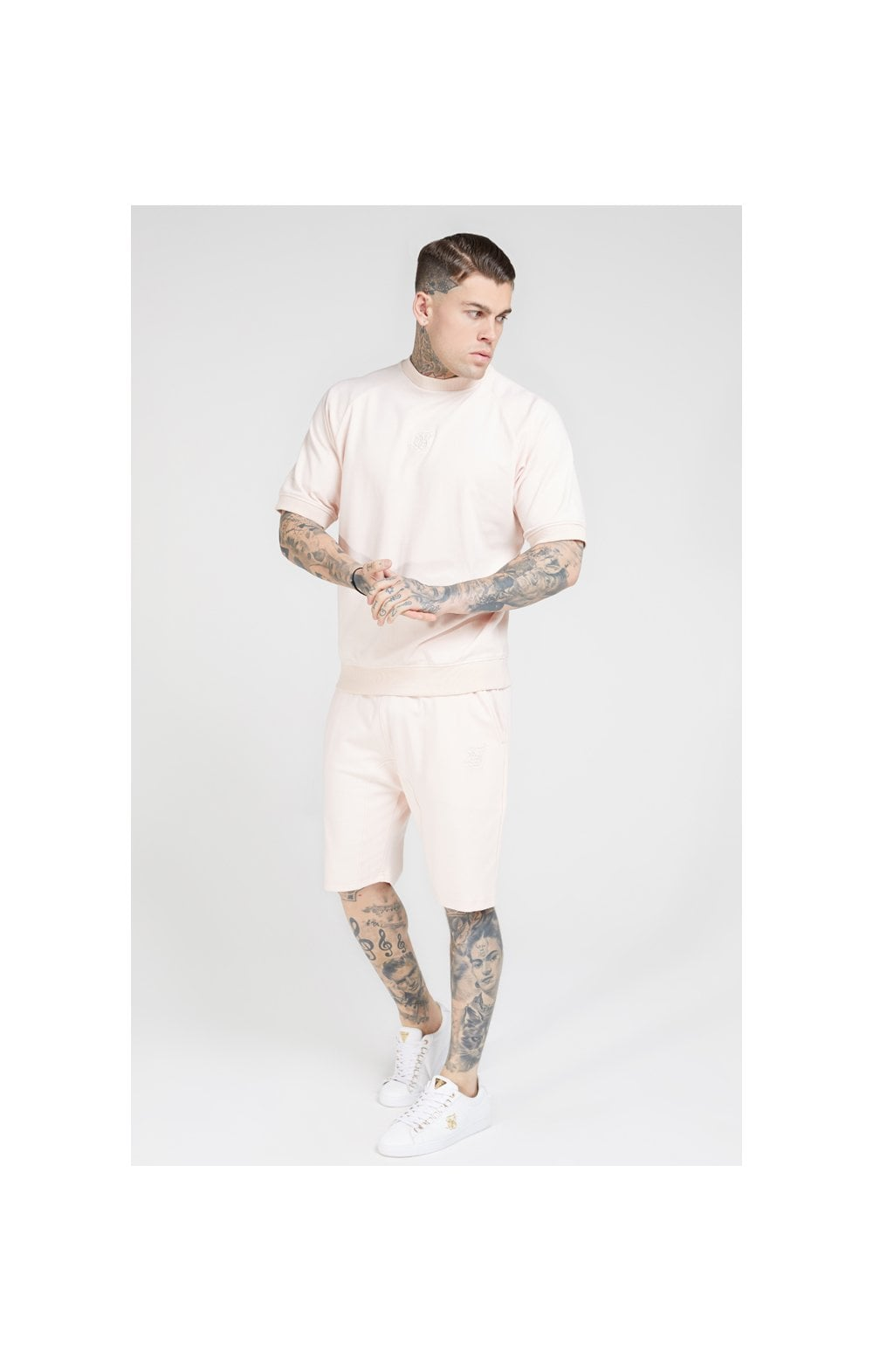SikSilk Relaxed Shorts - Cloudy Pink (3)