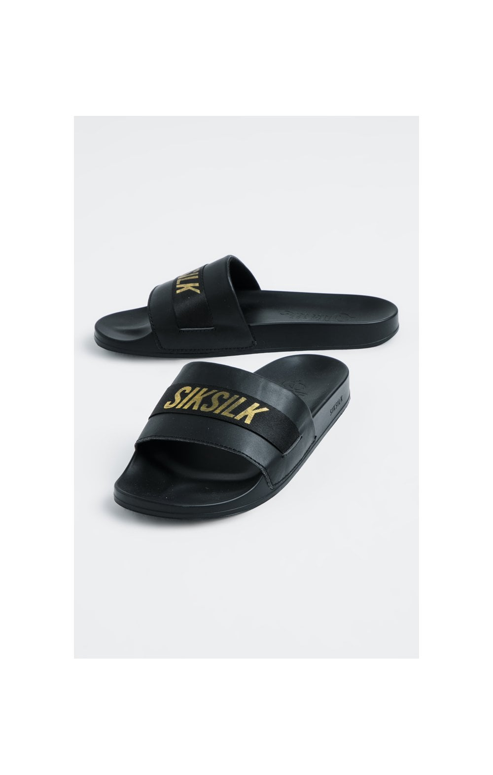 SikSilk Roma Tape Slides – Black & Gold