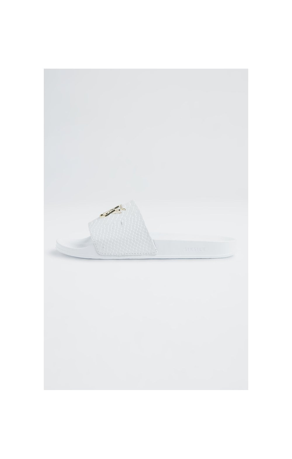SikSilk Roma Lux Anaconda Slides – White