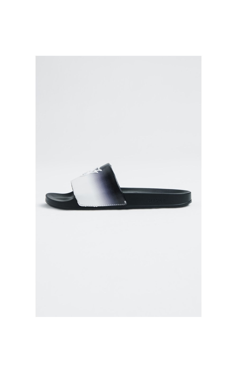 SikSilk Roma Fade Slides – Black & White