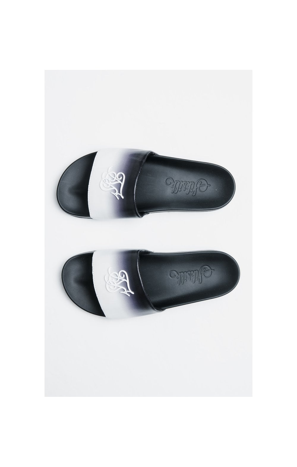 SikSilk Roma Fade Slides – Black & White (3)