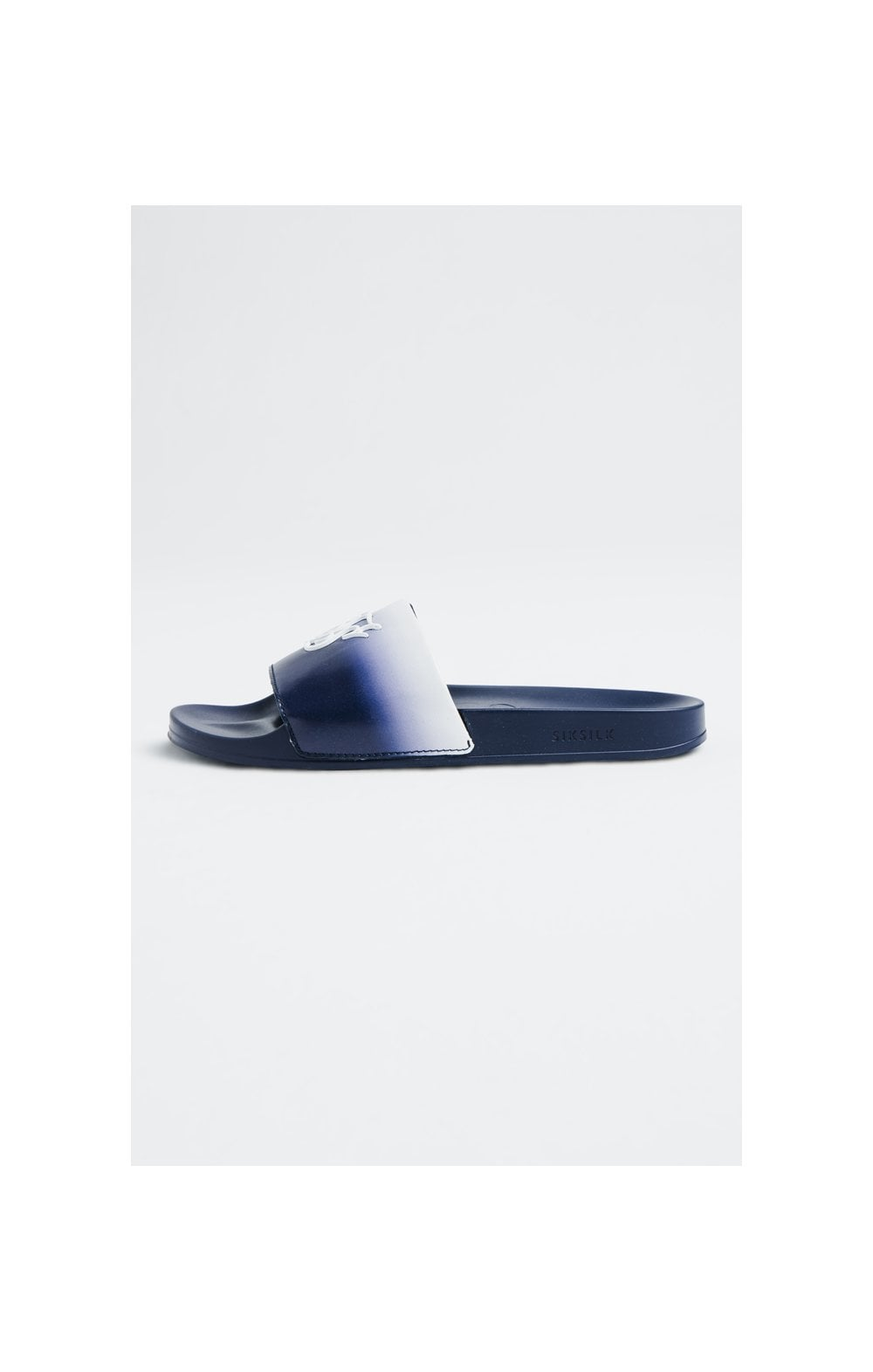 SikSilk Roma Fade Slides – Navy & White