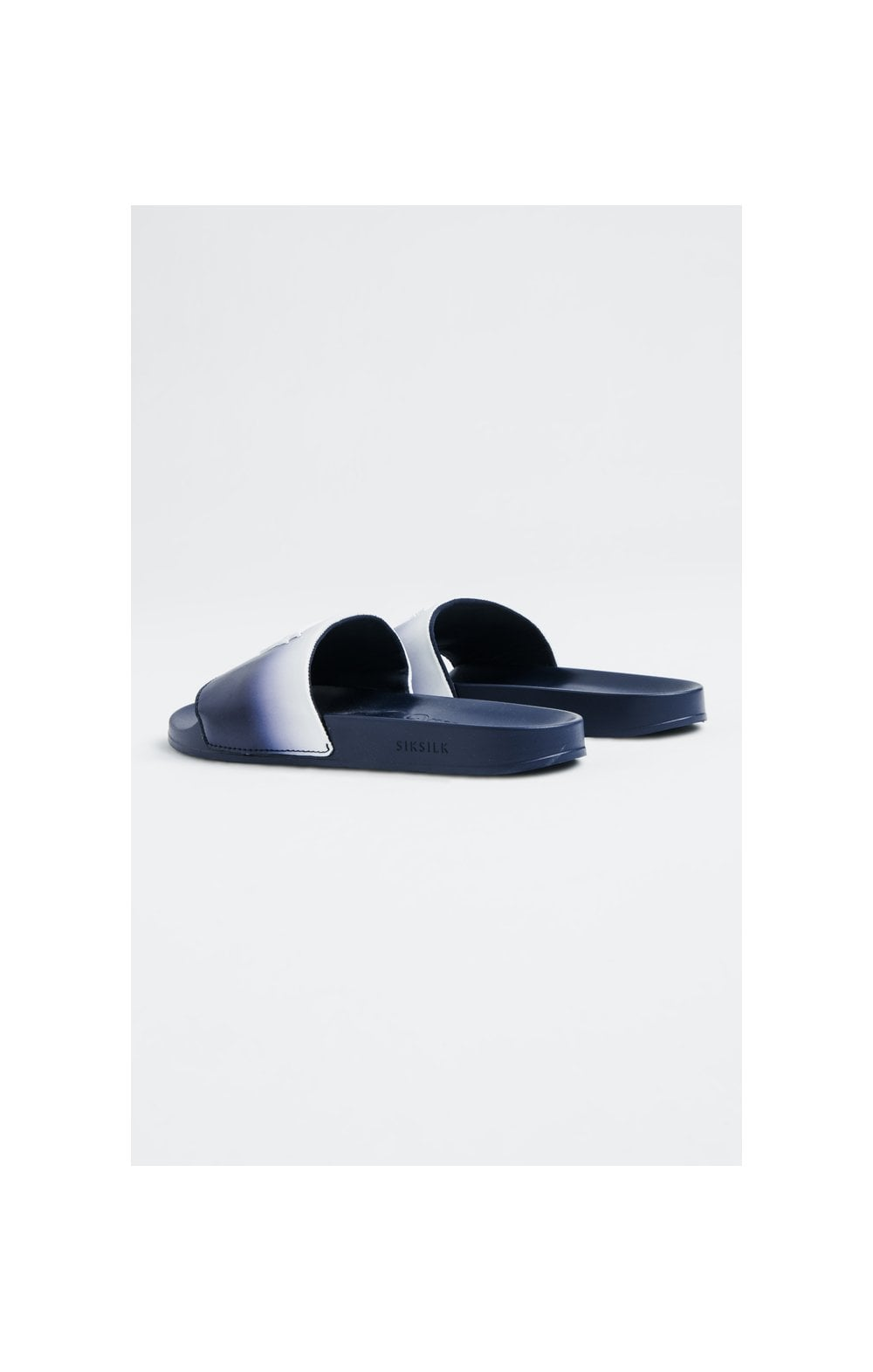 Load image into Gallery viewer, SikSilk Roma Fade Slides – Navy & White (1)