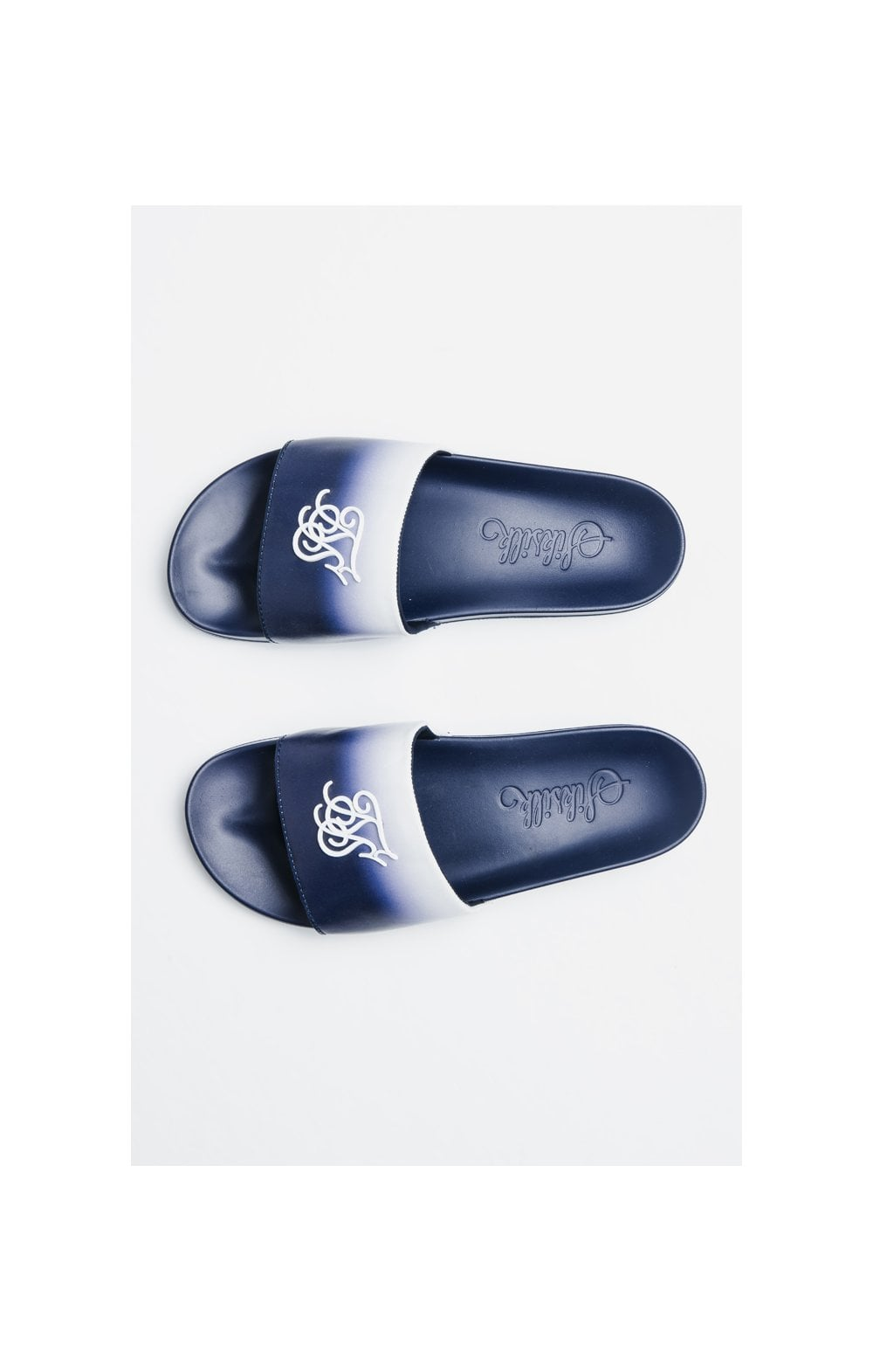 Load image into Gallery viewer, SikSilk Roma Fade Slides – Navy & White (3)