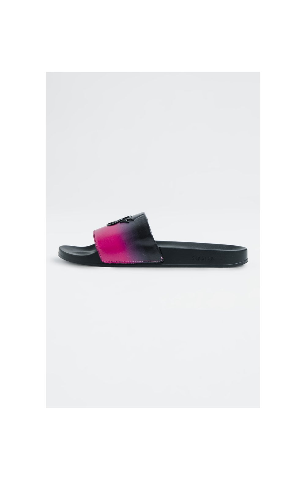 SikSilk Roma Fade Slides – Pink & Black