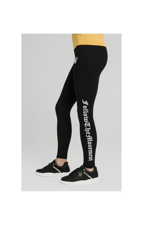 SikSilk Follow The Movement Leggings – Black
