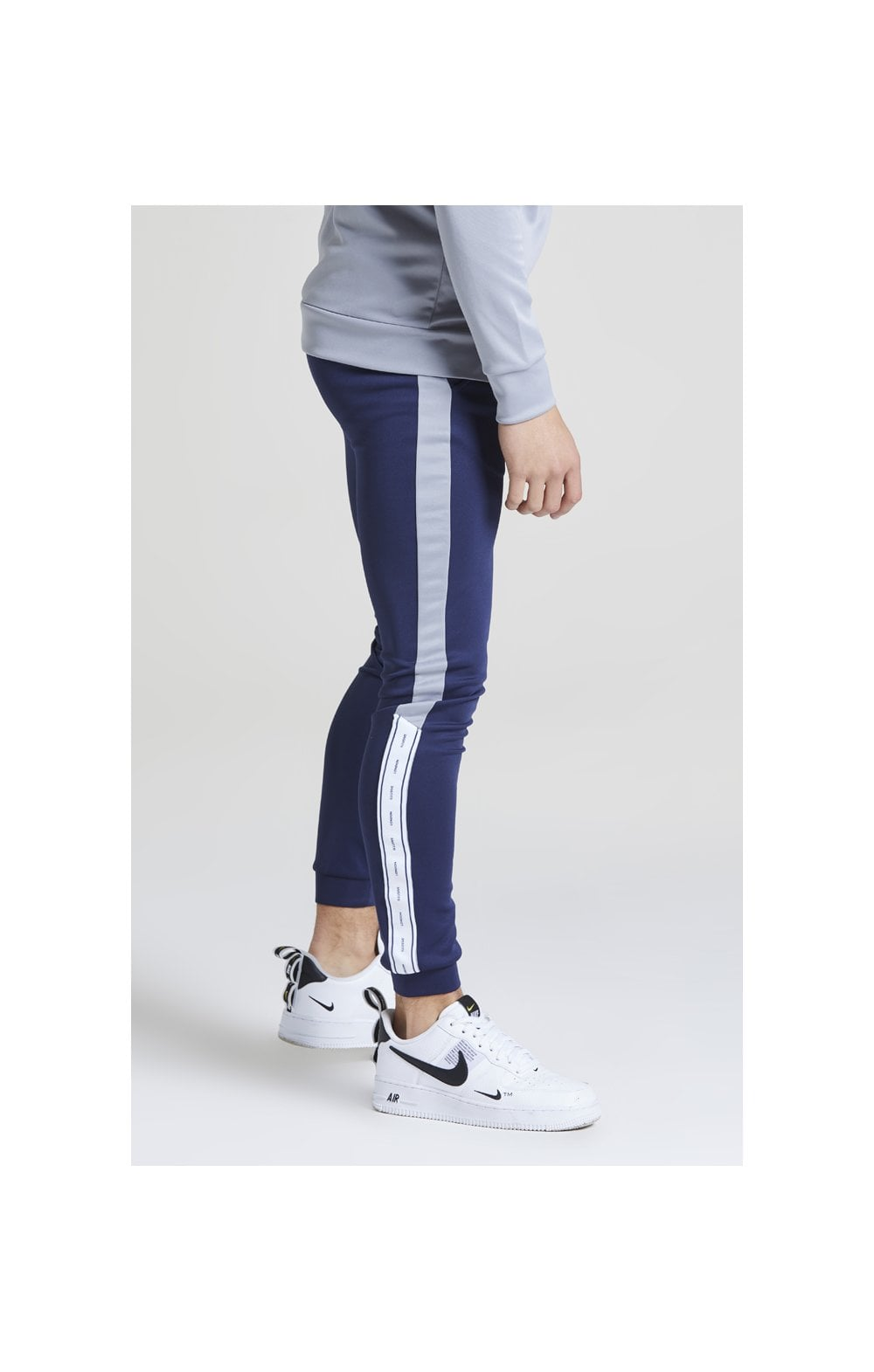 Illusive London Taped Joggers - Navy & Grey (1)