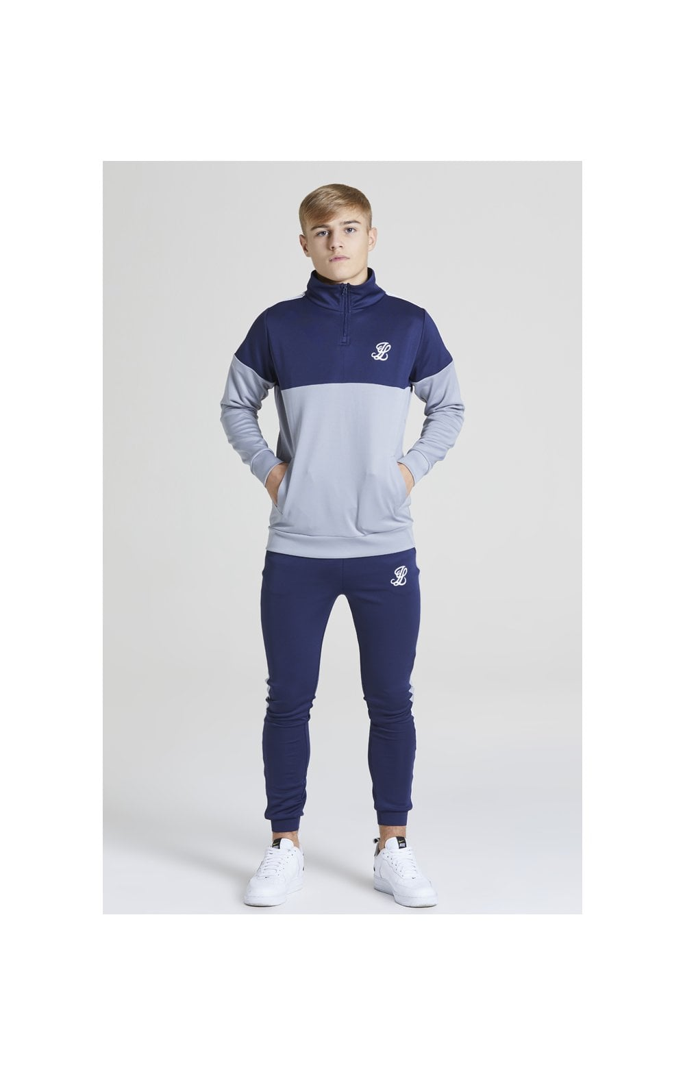 Illusive London Taped Joggers - Navy & Grey (3)