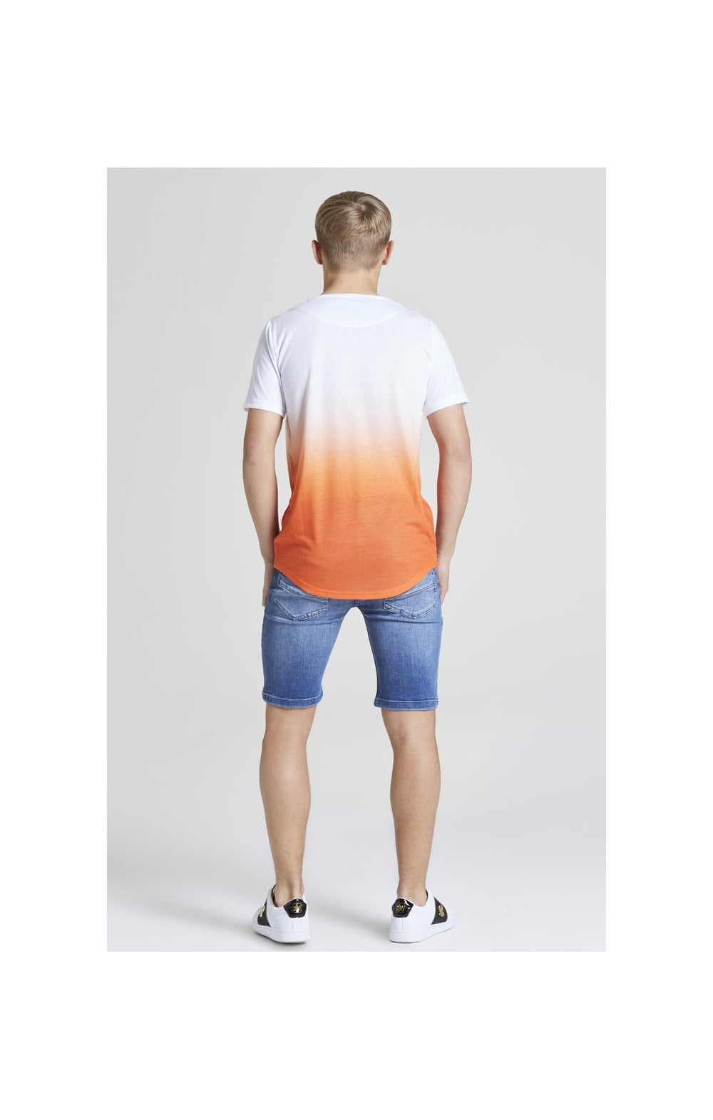 Load image into Gallery viewer, Illusive London Core Fade Tee – White & Orange (4)
