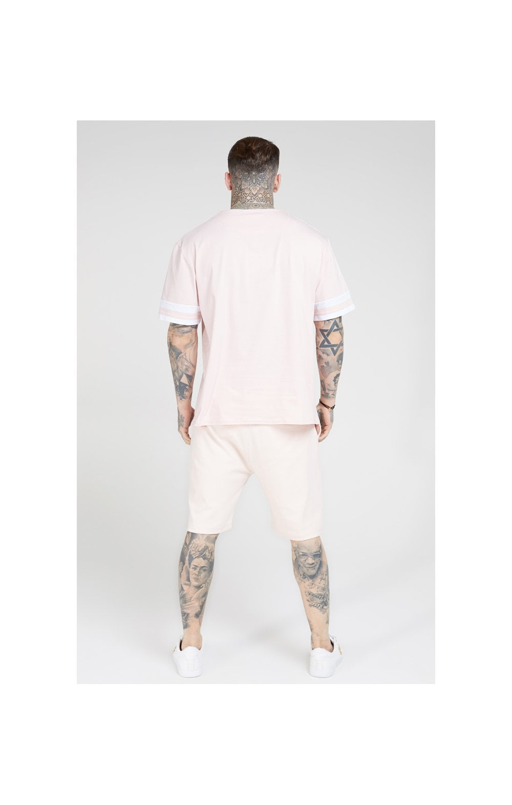 Load image into Gallery viewer, SikSilk S/S Essential Oversized Ringer Tee – Cloudy Pink (3)
