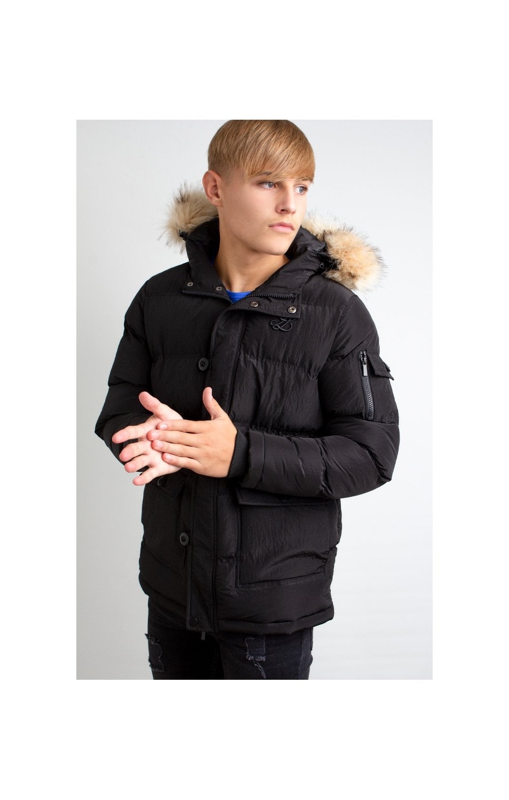 Illusive London Puff Parka – Black