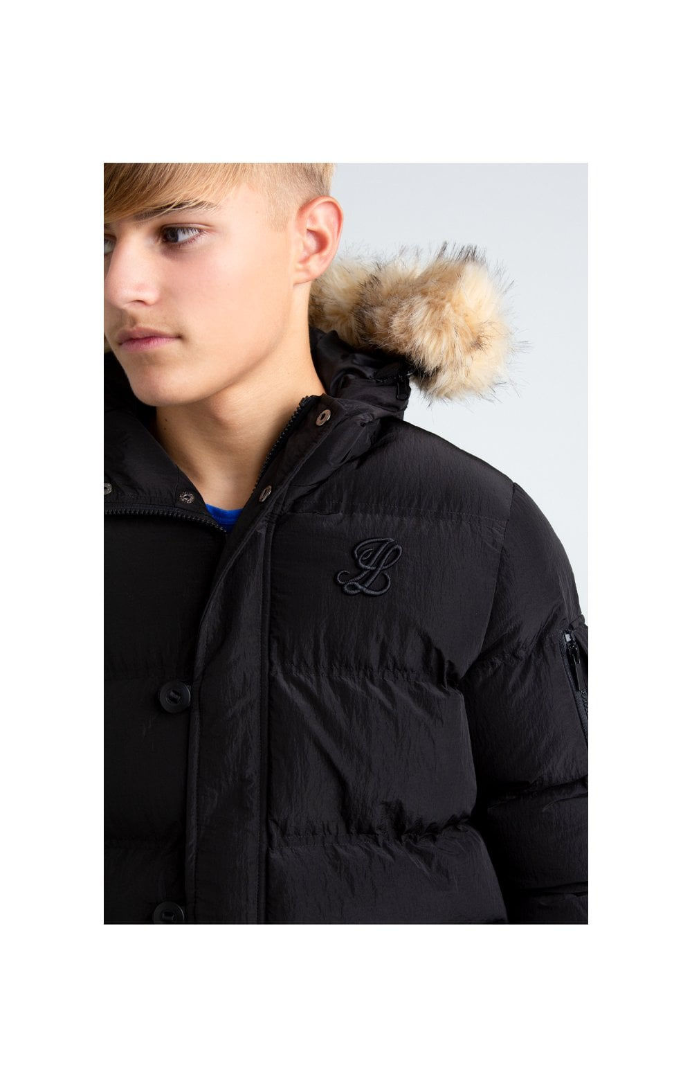 Load image into Gallery viewer, Illusive London Puff Parka – Black (1)
