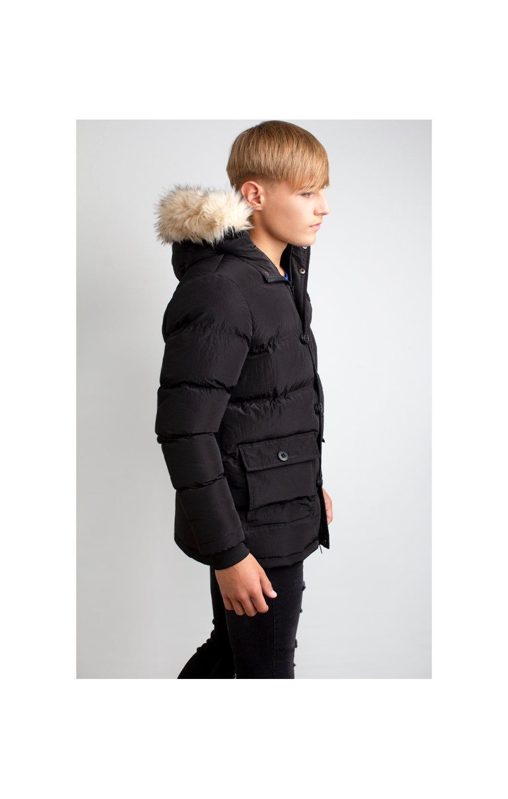 Load image into Gallery viewer, Illusive London Puff Parka – Black (2)