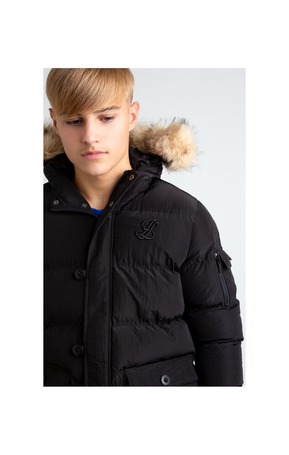 Load image into Gallery viewer, Illusive London Puff Parka – Black (3)