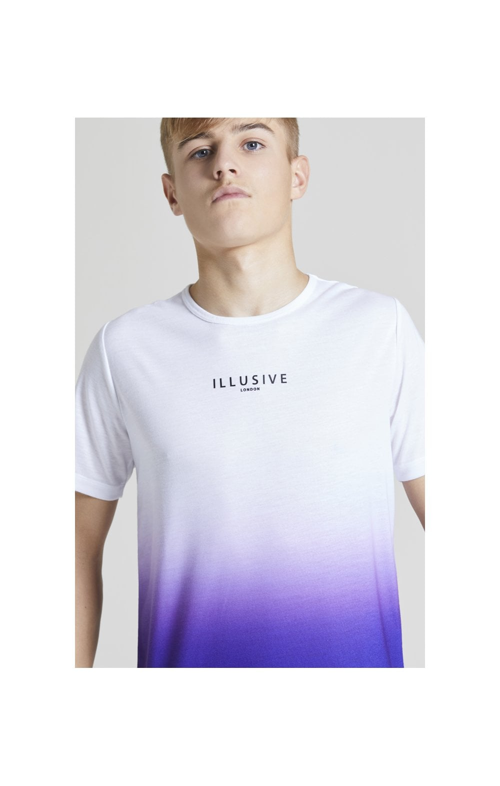 Load image into Gallery viewer, Illusive London Core Fade Tee – White & Purple