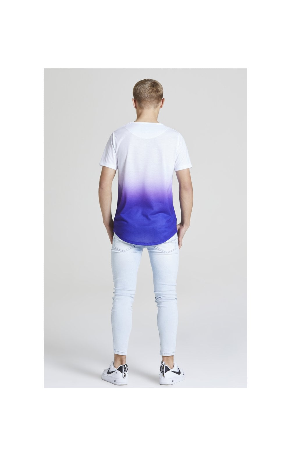 Load image into Gallery viewer, Illusive London Core Fade Tee – White & Purple (5)