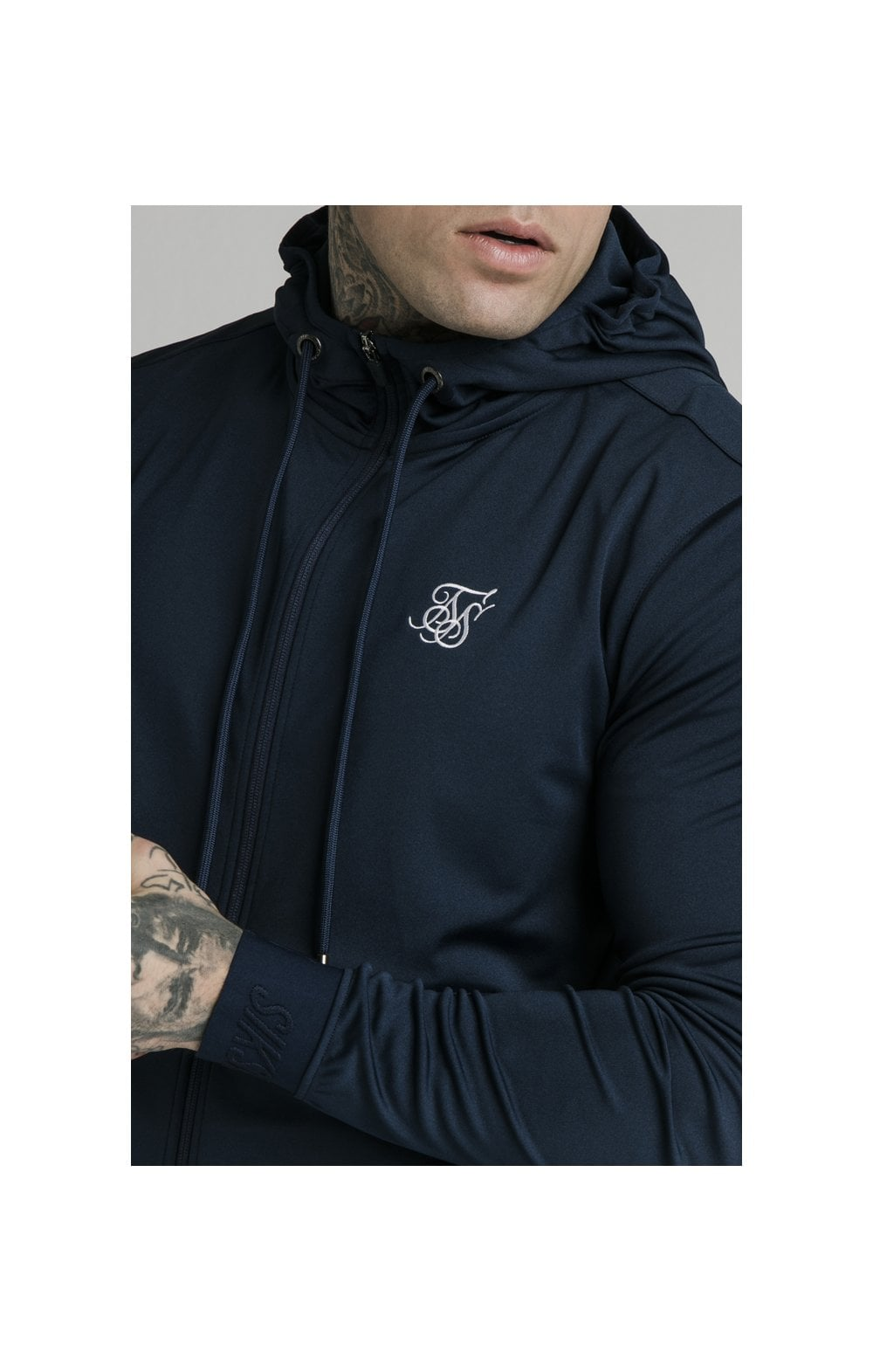 Load image into Gallery viewer, SikSilk Agility Zip Through Hoodie - Navy (1)