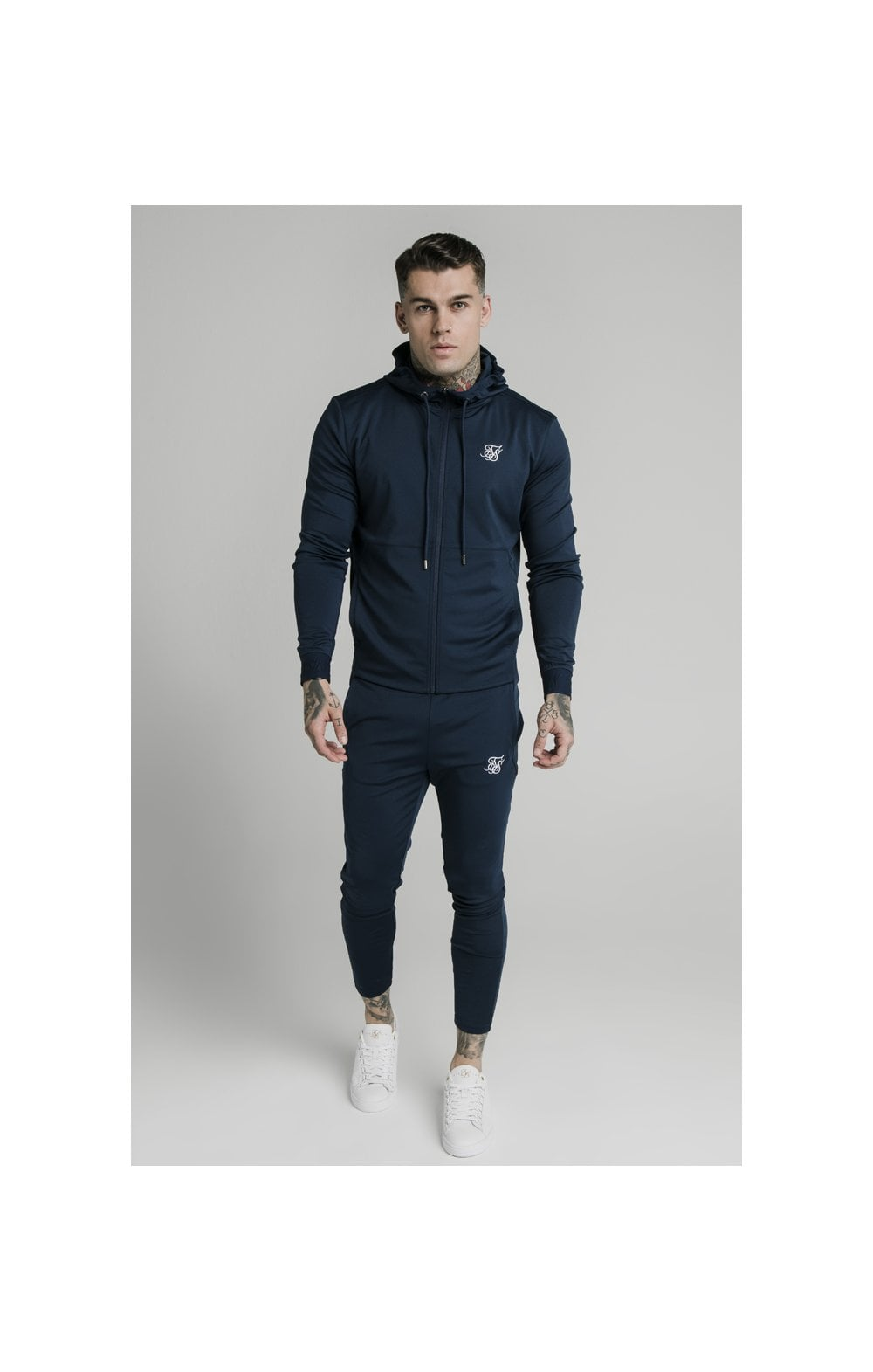 Load image into Gallery viewer, SikSilk Agility Zip Through Hoodie - Navy (3)