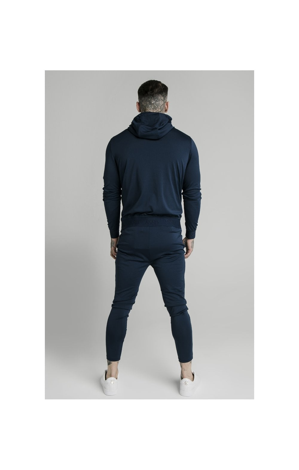Load image into Gallery viewer, SikSilk Agility Zip Through Hoodie - Navy (4)