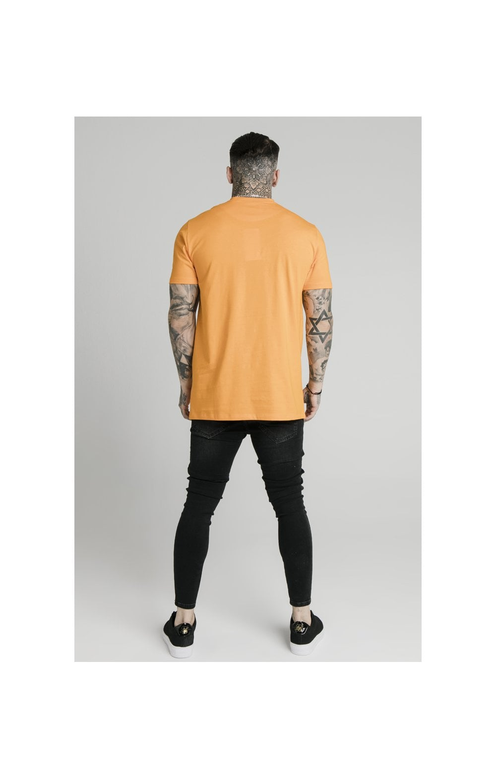 SikSilk S/S Square Hem Tee – Orange (4)