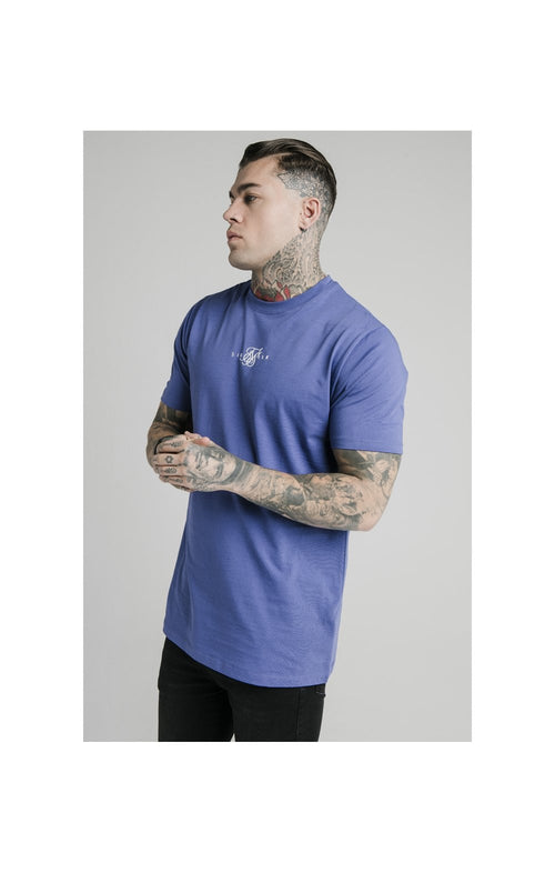 SikSilk S/S Square Hem Tee – Blue