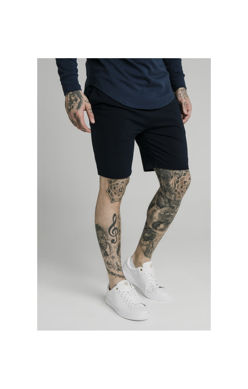 SikSilk Jersey Shorts - Navy (2)