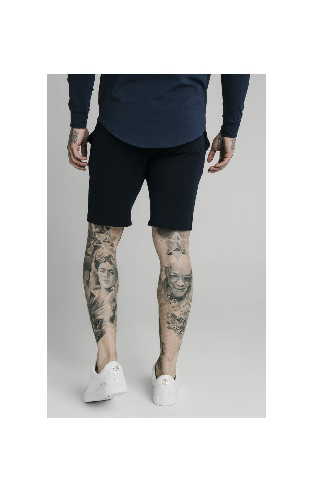 SikSilk Jersey Shorts - Navy (3)