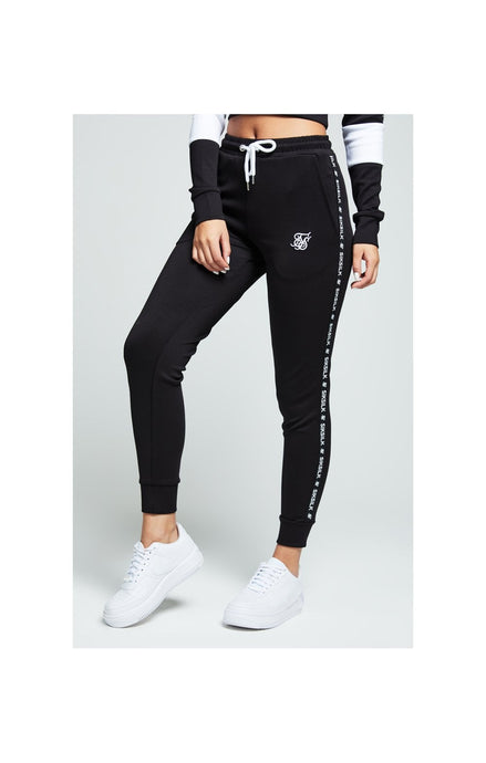 SikSilk Tape Track Pants – Black & White
