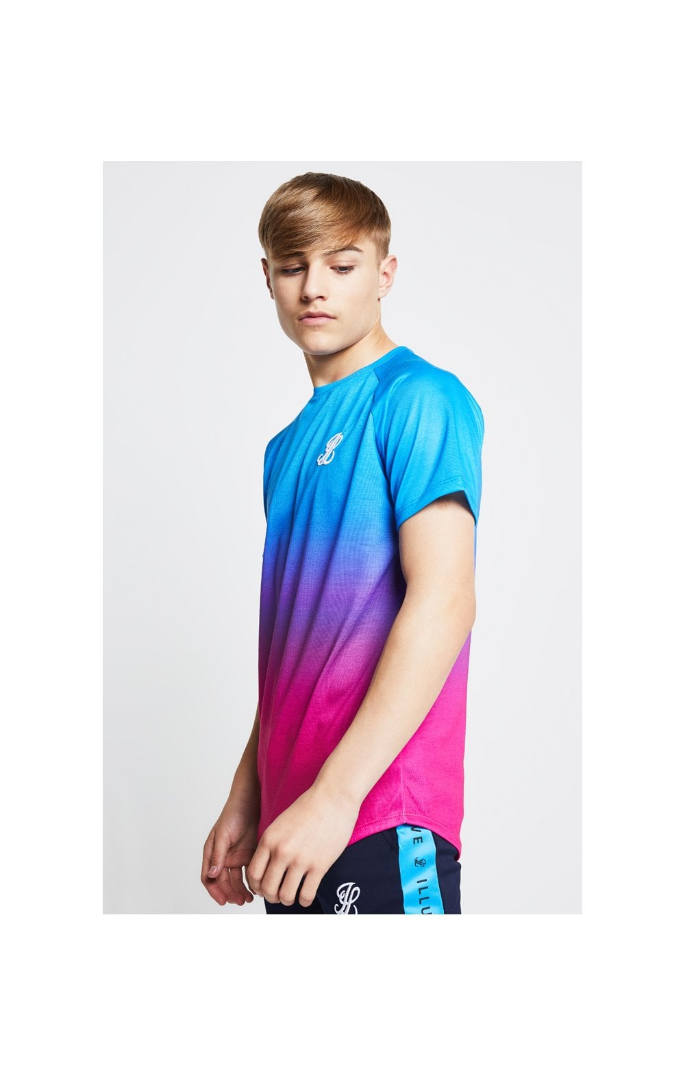 Illusive London Fade Tee - Blue & Pink (2)