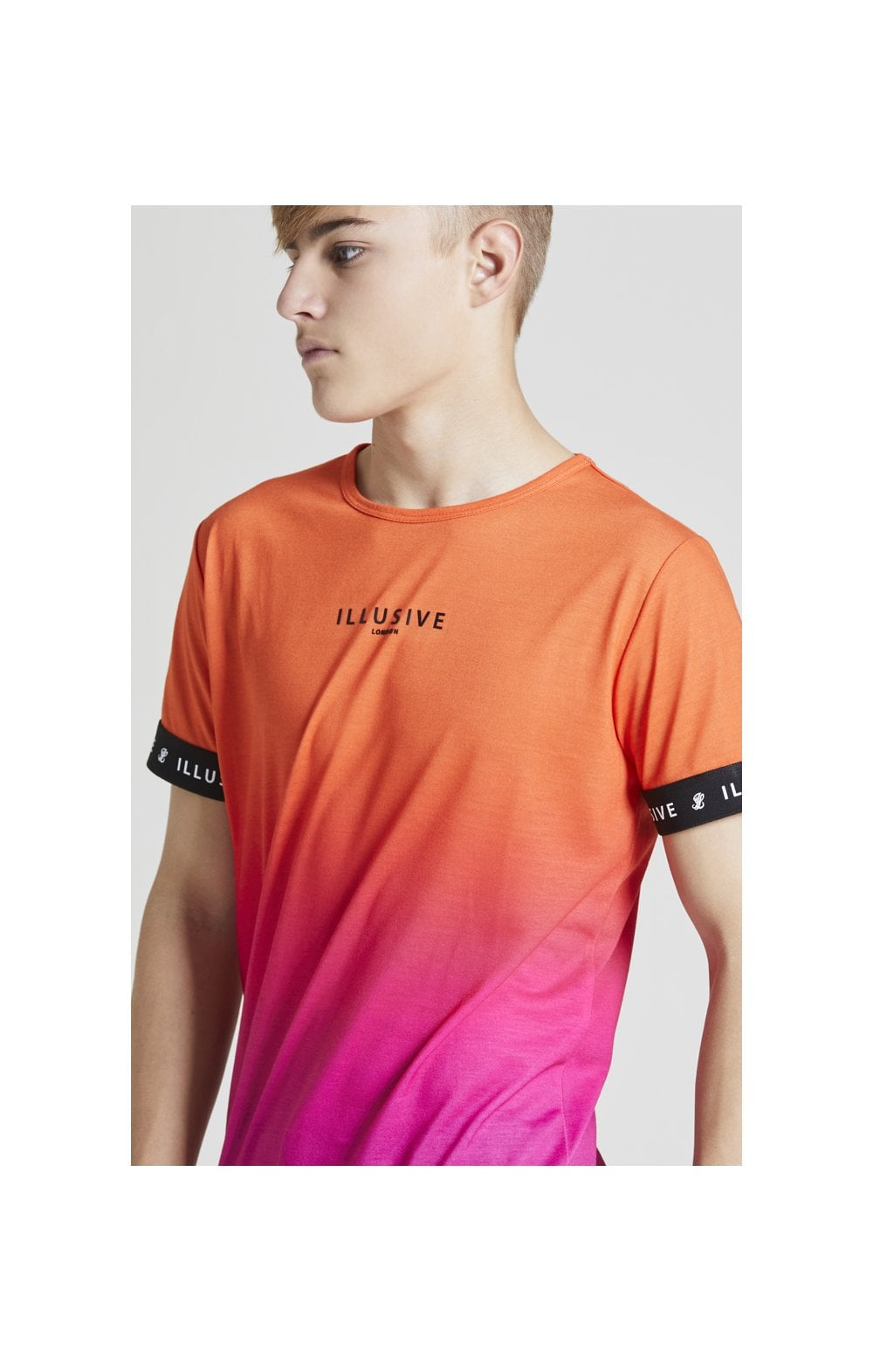 Illusive London Fade Tech Tee - Orange & Pink
