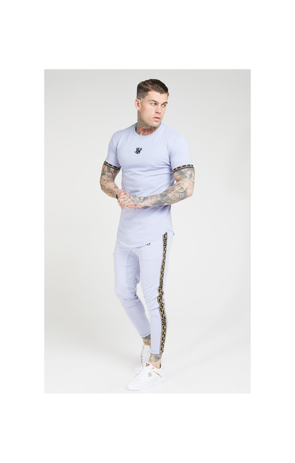 SikSilk S/S Scope Gym Tee – Dusky Sky (2)