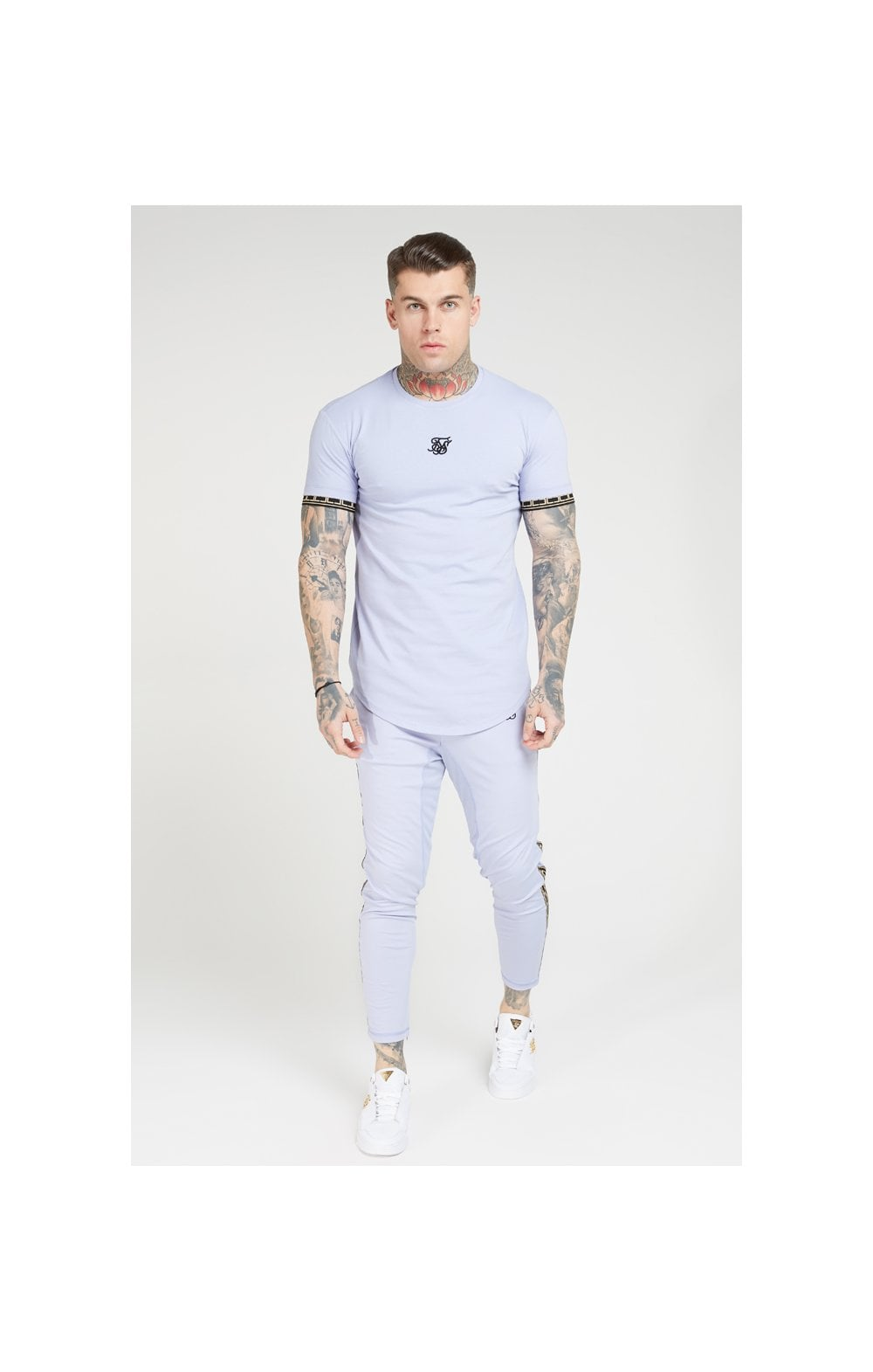SikSilk S/S Scope Gym Tee – Dusky Sky (4)