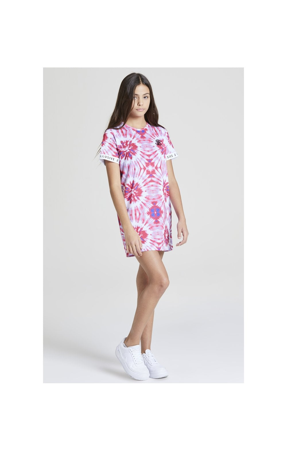 Load image into Gallery viewer, Illusive London Tie Dye T-Shirt Dress - Multi (3)