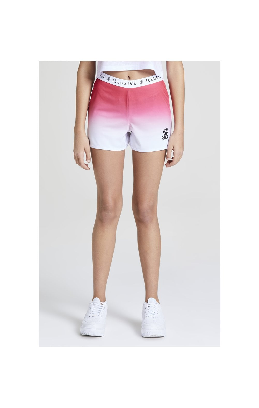 Illusive London Fade Shorts – Pink & White