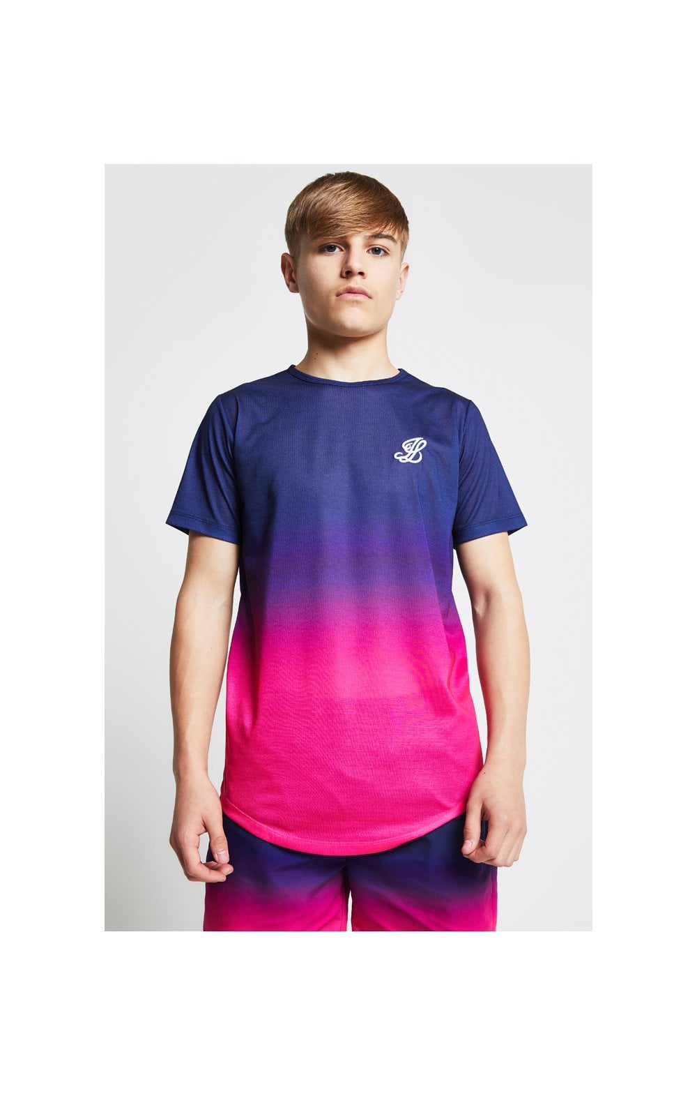 Load image into Gallery viewer, Illusive London Fade Tee - Navy & Pink