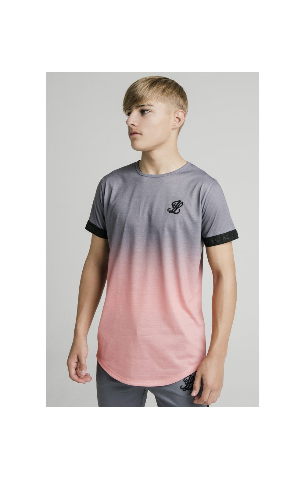 Load image into Gallery viewer, Illusive London Fade Tech Tee - Grey & Peach